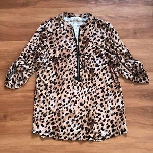 Calvin Klein Leopard Top. Size small.